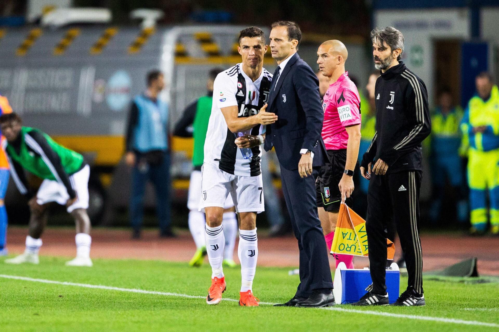 Cristiano Ronaldo et Massimiliano Allegri avec la Juventus (iconsport)