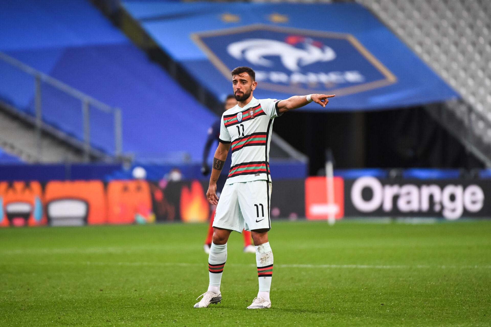 Bruno Fernandes s'investissant pour son pays (Icon Sport)