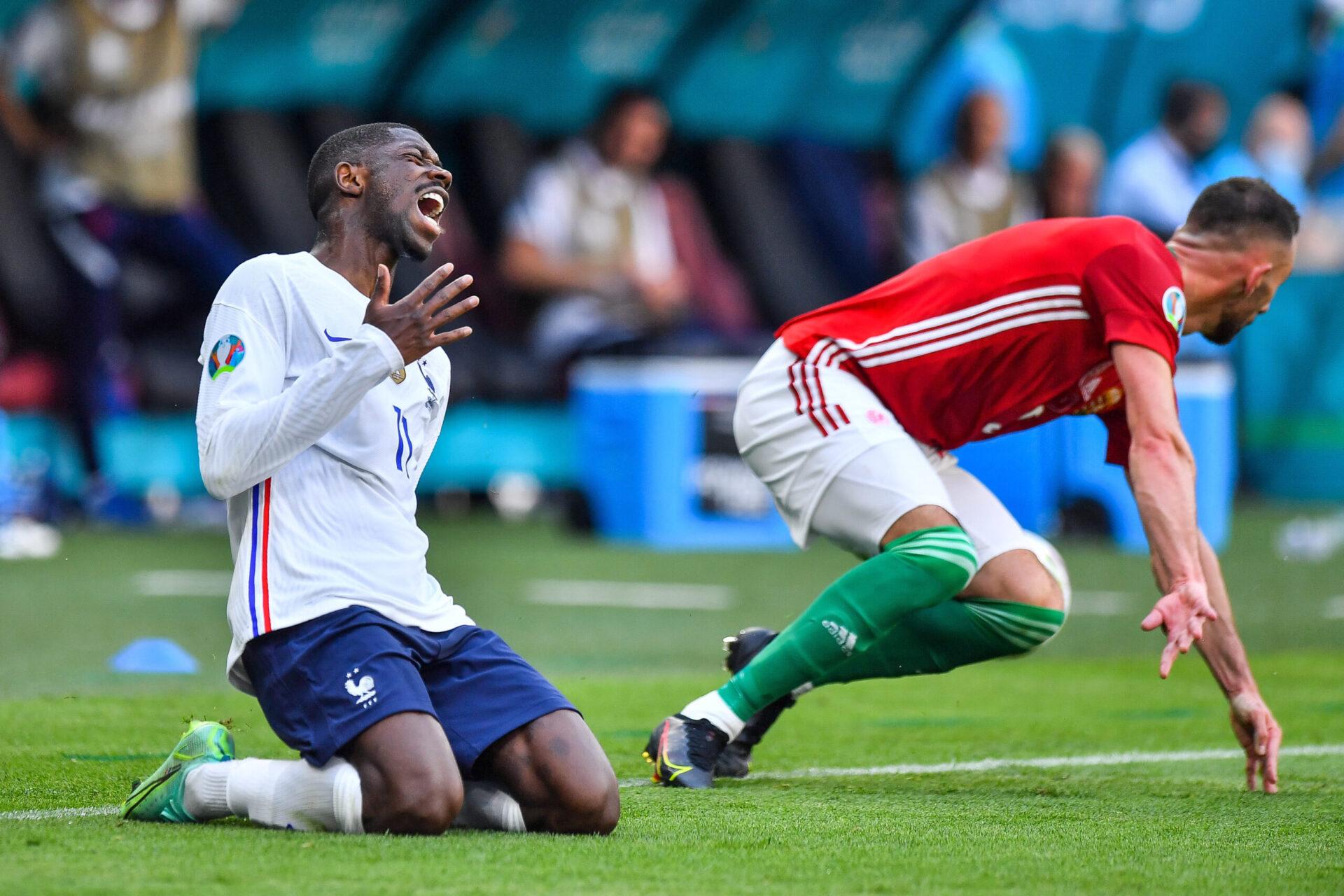 Ousmane Dembélé s'est blessé pendant l'Euro 2020 et son retour n'est pas prévu avant novembre 2021 (iconsport)