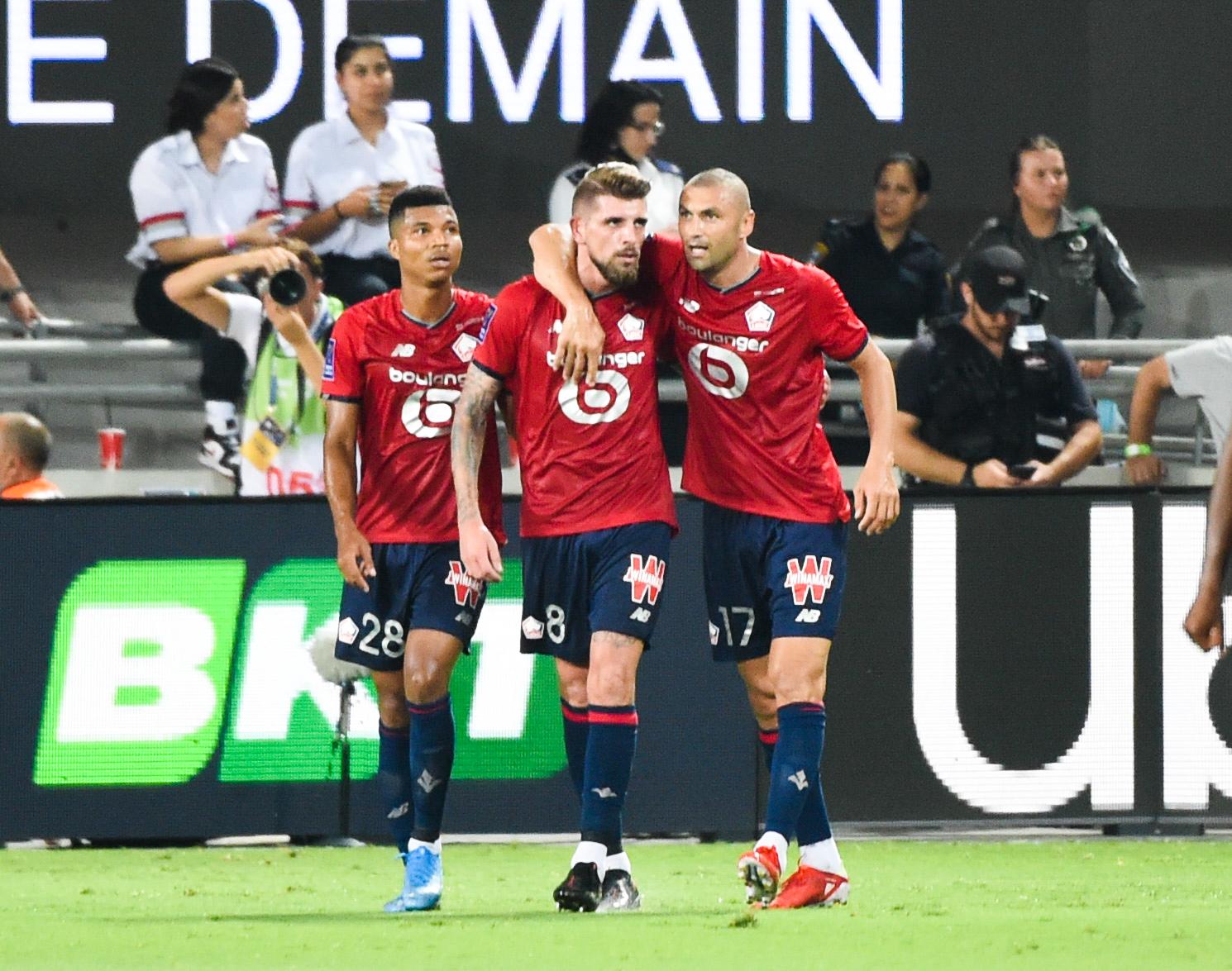 Xeka a inscrit à Tel-Aviv l'unique but de la rencontre, offrant au LOSC le premier Trophée des champions de son histoire (iconsport)