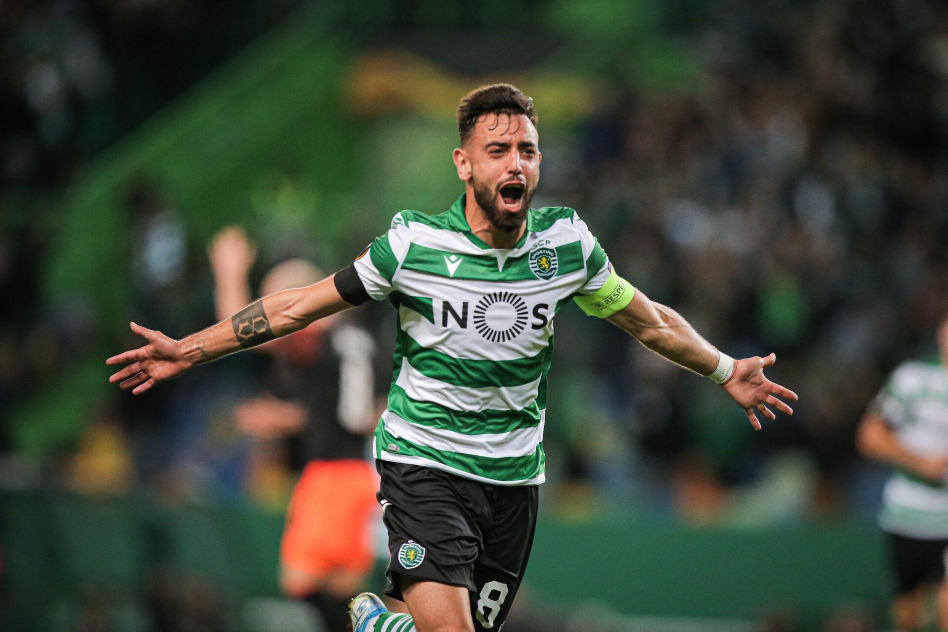 Bruno Fernandes portant les couleurs du Sporting PC (Icon Sport)