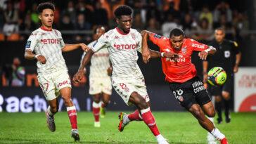 À Lorient, Monaco a concédé son premier revers de la saison après une rencontre pauvre en occasions (iconsport)