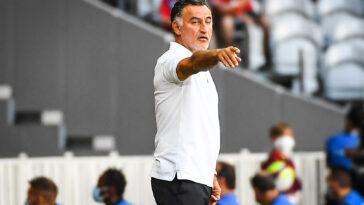 Christophe Galtier s'est exprimé en conférence de presse sur les tristes évènements du match contre l'Olympique de Marseille (IconSport)