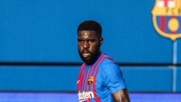 Samuel Umtiti ne manque de prétendants désireux de le récupérer si le Barça arrive à le faire partir. Icon Sport