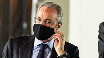 Florentino Pérez, le président du Real Madrid, envisagerait de quitter la Liga. Icon Sport