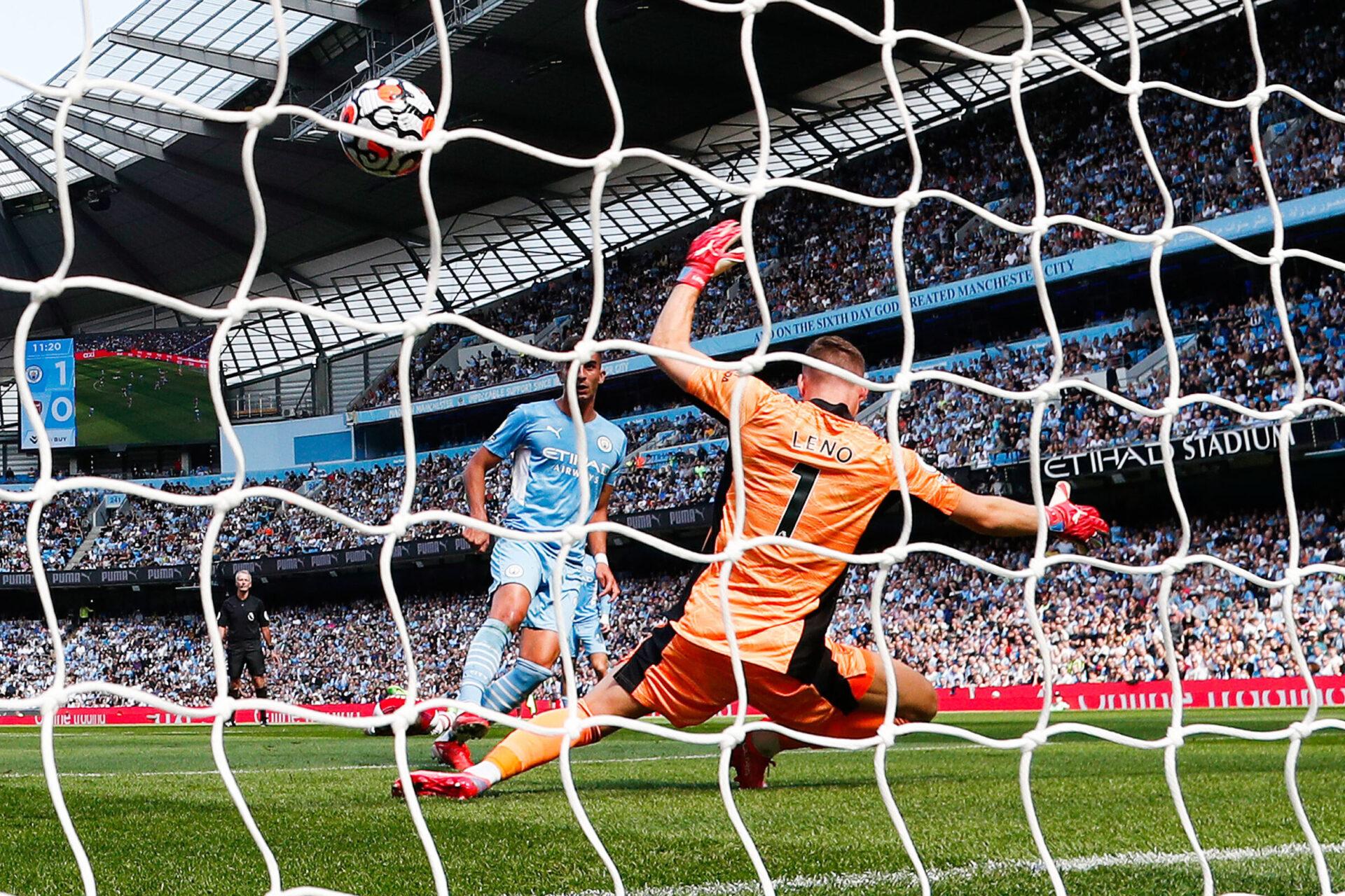 Ferran Torres, auteur d'un doublé lors de la confrontation entre Manchester City et Arsenal ce 28 août 2021 (IconSport)