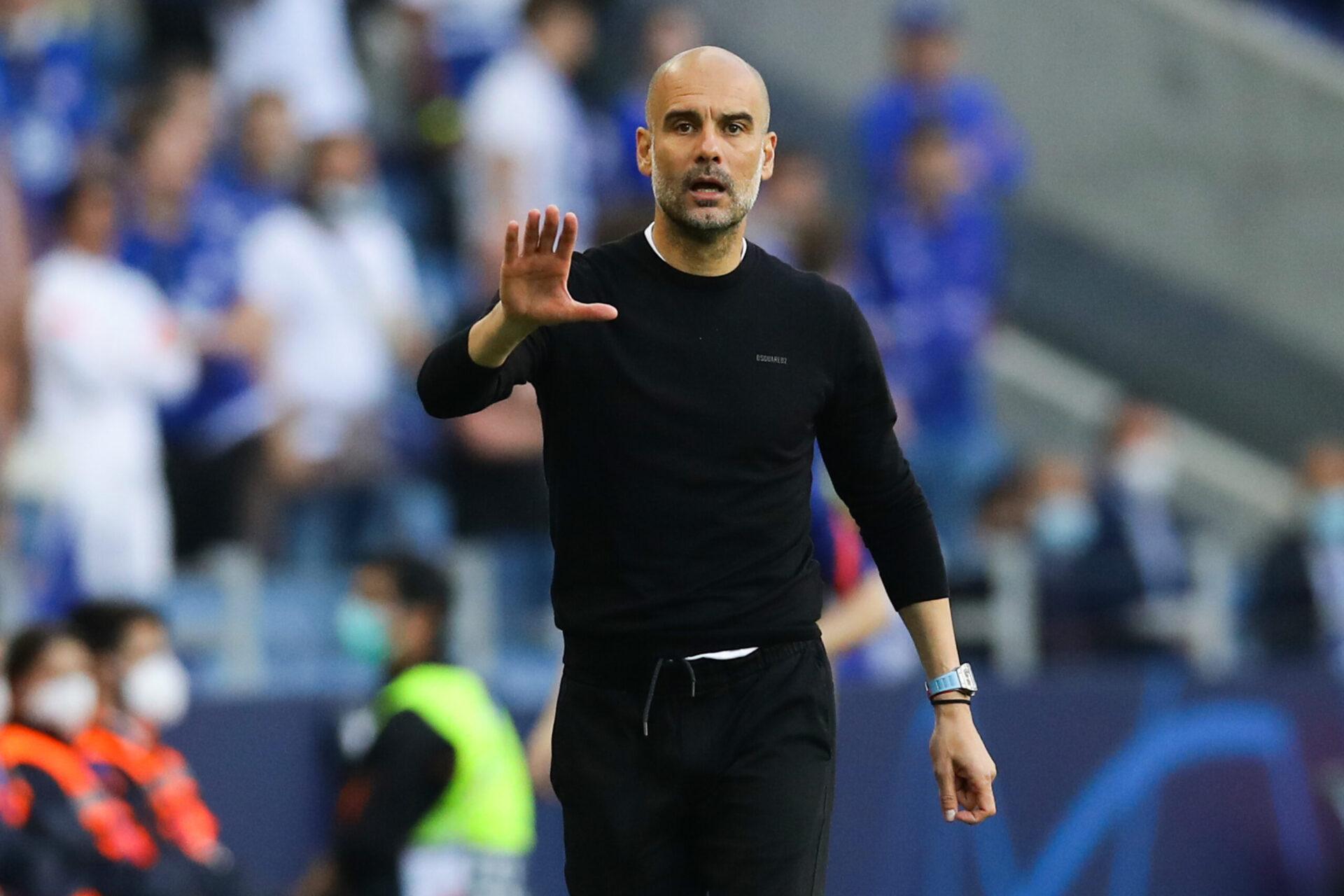 Pep Guardiola soutenant Manchester City (Icon Sport)