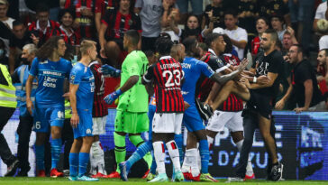 Les sanctions après les incidents du match Nice-Marseille sont tombées. Icon Sport