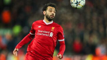 Mohamed Salah jouant avec le maillot de Liverpool (Icon Sport)