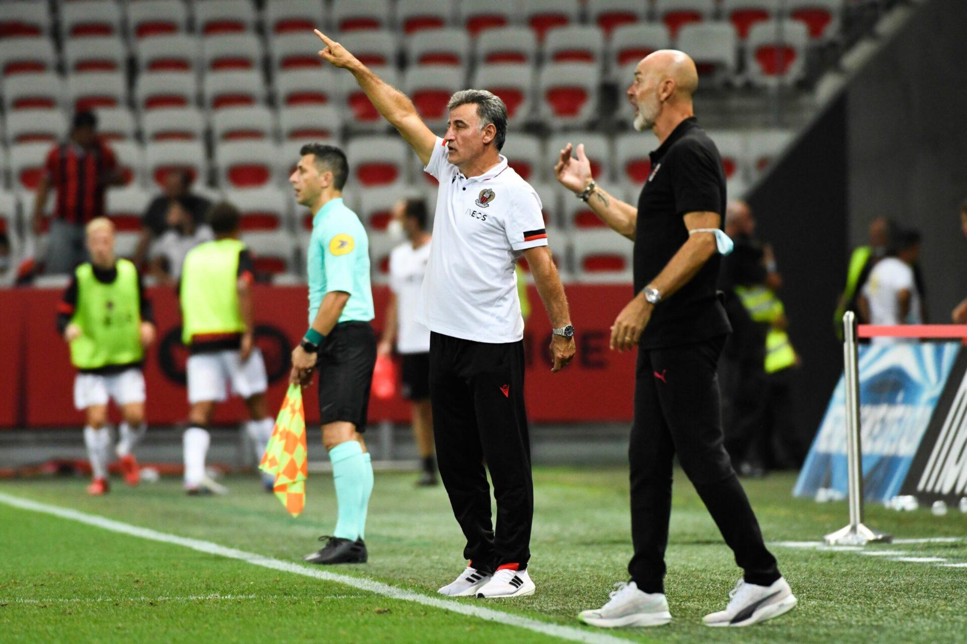 Christophe Galtier lors du match face à l'AC Milan (iconsport)