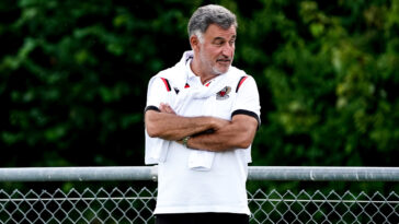 Christophe Galtier entraînant l'OGC Nice (Icon Sport)
