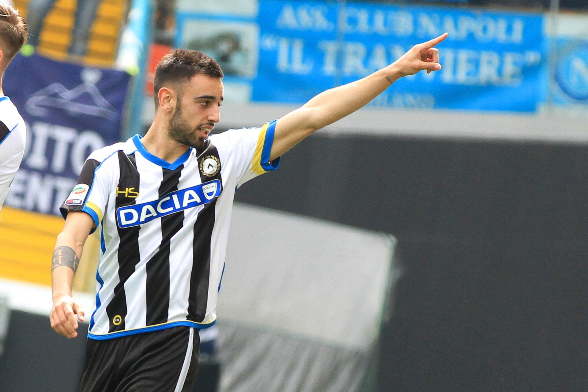 Bruno Fernandes jouant avec l'Udinese Calcio (Icon Sport)