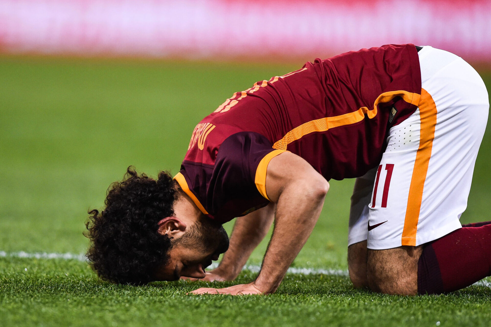 Mohamed Salah jouant avec l'équipe de Roma (Icon Sport)