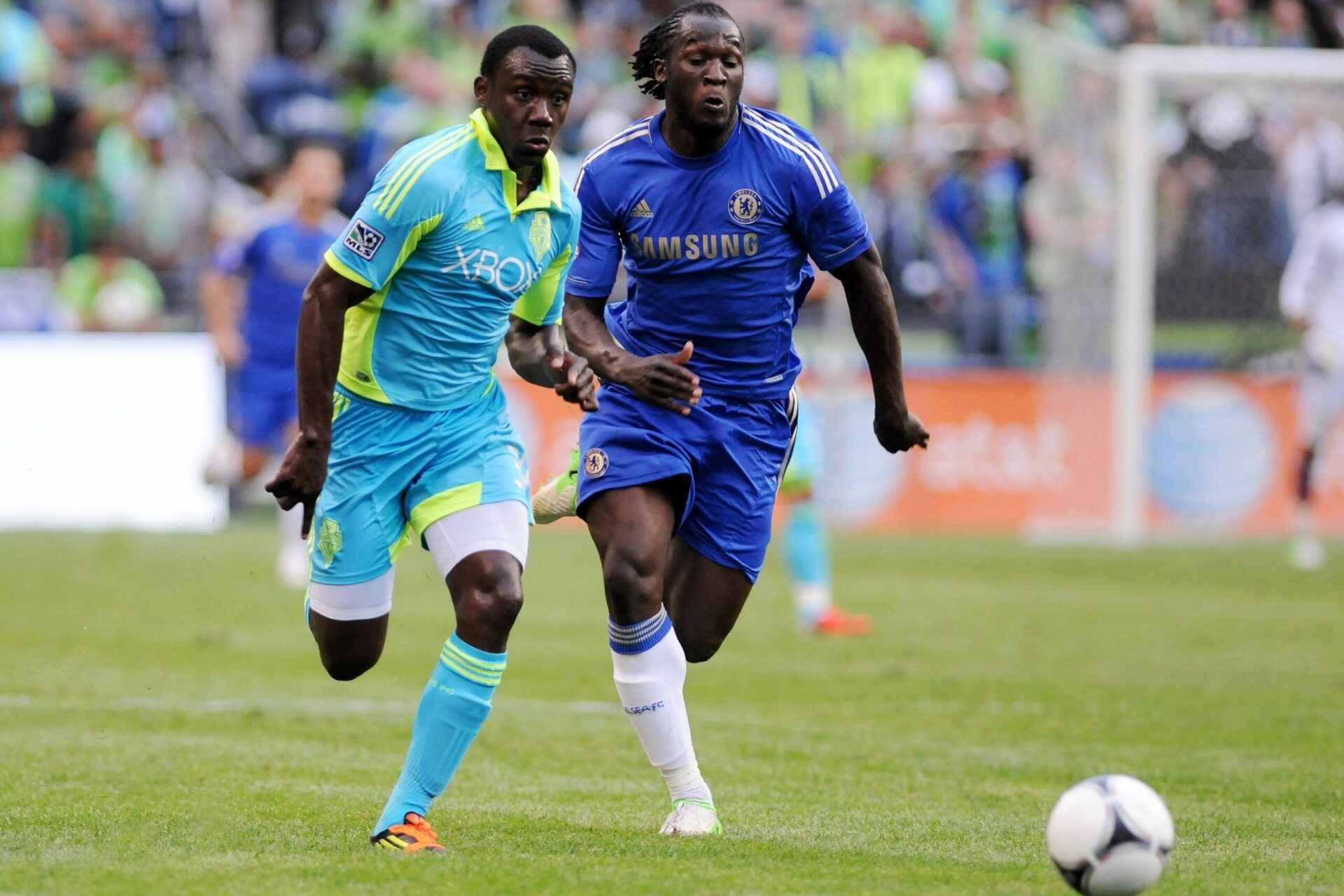 8 ans après son départ de Chelsea, Romelu Lukaku retrouvera-t-il Londres cet été ? (iconsport)