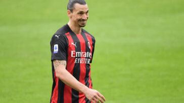 Zlatan Ibrahimovic portant le maillot de l'AC Milan (Icon Sport)