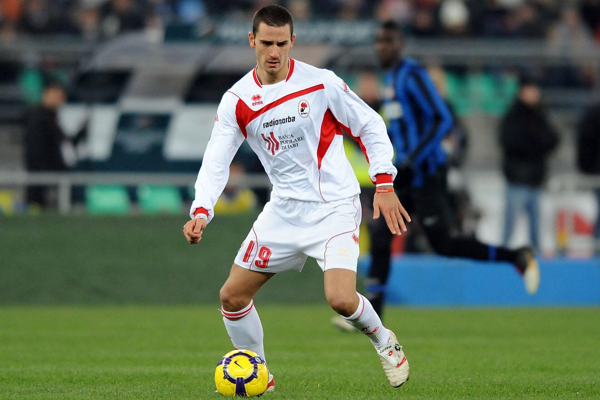 Leonardo Bonucci débutant sa carrière de footballeur professionnel avec l'Inter Milan (Icon Sport)