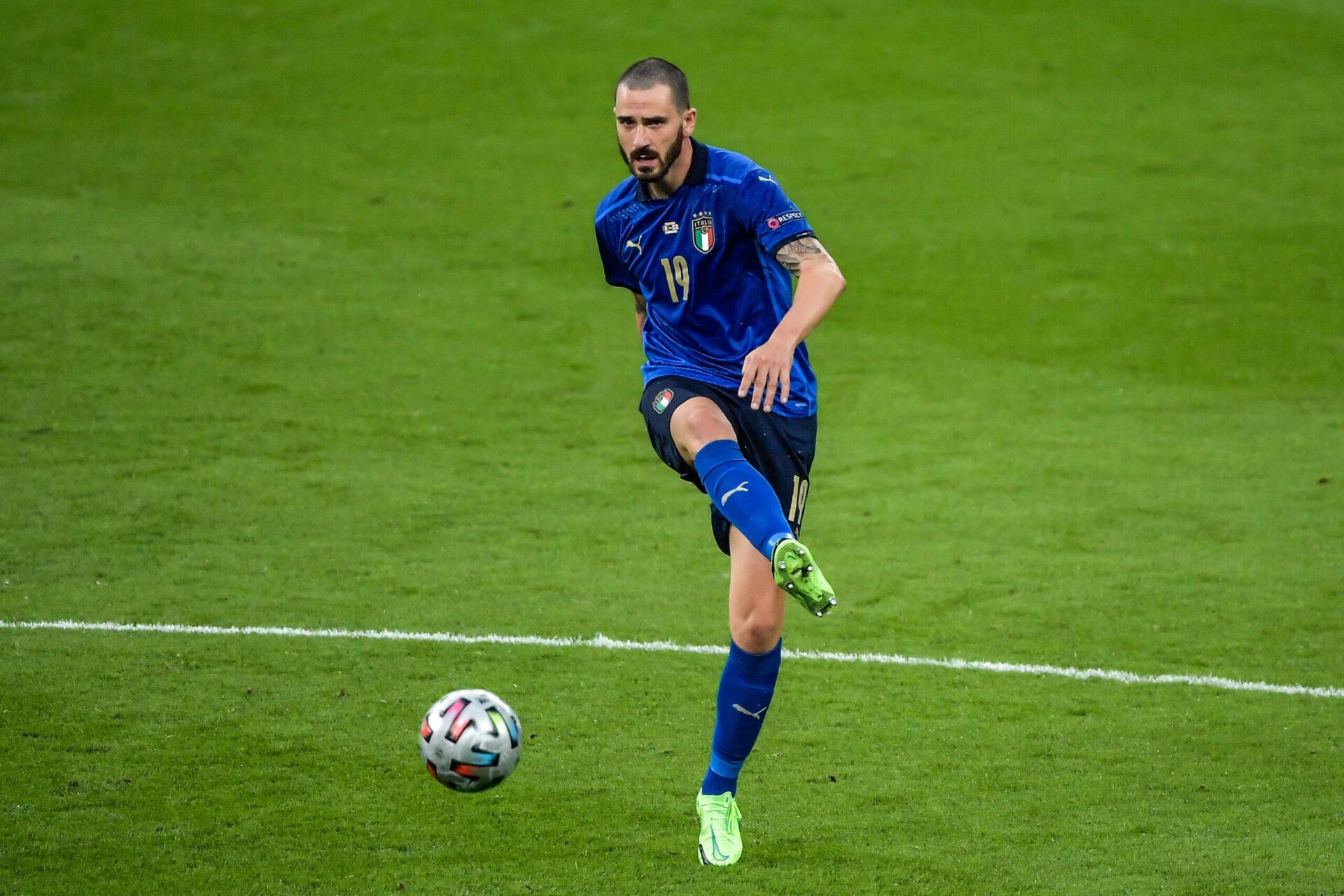 Leonardo Bonucci sous les couleurs du drapeau italien (Icon Sport)