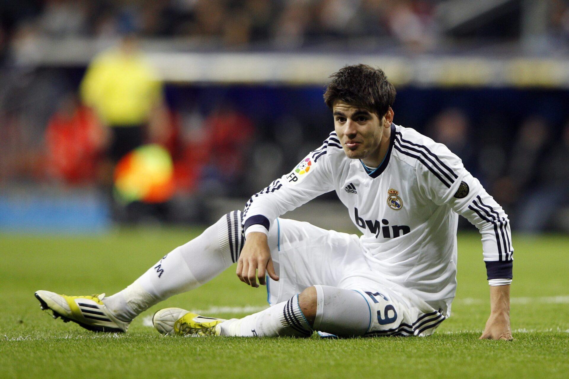 Alvaro Morata débutant sa carrière de footballeur professionnel avec le Real Madrid (Icon Sport)