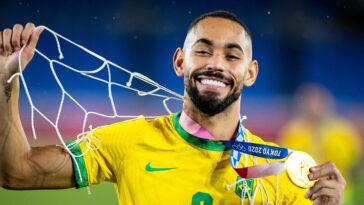 Champion olympique cet été et au Hertha Berlin depuis janvier 2020, Matheus Cunha a rejoint l'Atlético de Madrid pour 5 ans (iconsport)