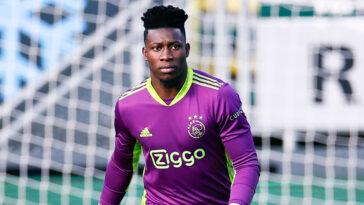 Annoncé proche de rejoindre Lyon, André Onana s'en éloigne. Le gardien et ses représentants ont décidé de temporiser et réfléchissent à un départ de l'Ajax l'été prochain (iconsport)