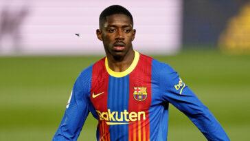 Ousmane Dembélé aurait trouvé un accord avec le FC Barcelone pour prolonger son contrat et aurait même accepter une baisse de salaire (iconsport)