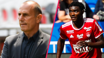 Michel Der Zakarian et Lilian Brassier ont réagi à la défaite du Stade Brestois face au PSG. Icon Sport
