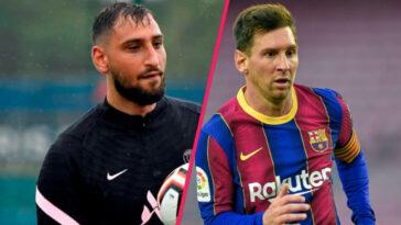 """Dans une interview donnée à Sky Italia, Gianluigi Donnarumma a expliqué être impatient de jouer aux côtés de Lionel Messi """"le plus fort du monde"""", d'après lui (iconsport)"""
