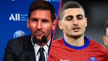 Lionel Messi a eu des commentaires élogieux à l'encontre de Marco Verratti lors de sa conférence de présentation ce mercredi 11 août (iconsport)
