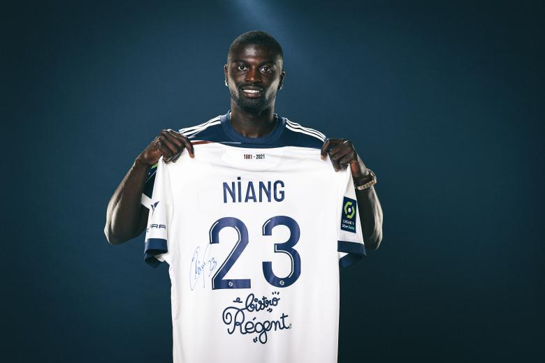 M'Baye Niang, sous ses nouvelles couleurs, celles de Girondins de Bordeaux. FCGB