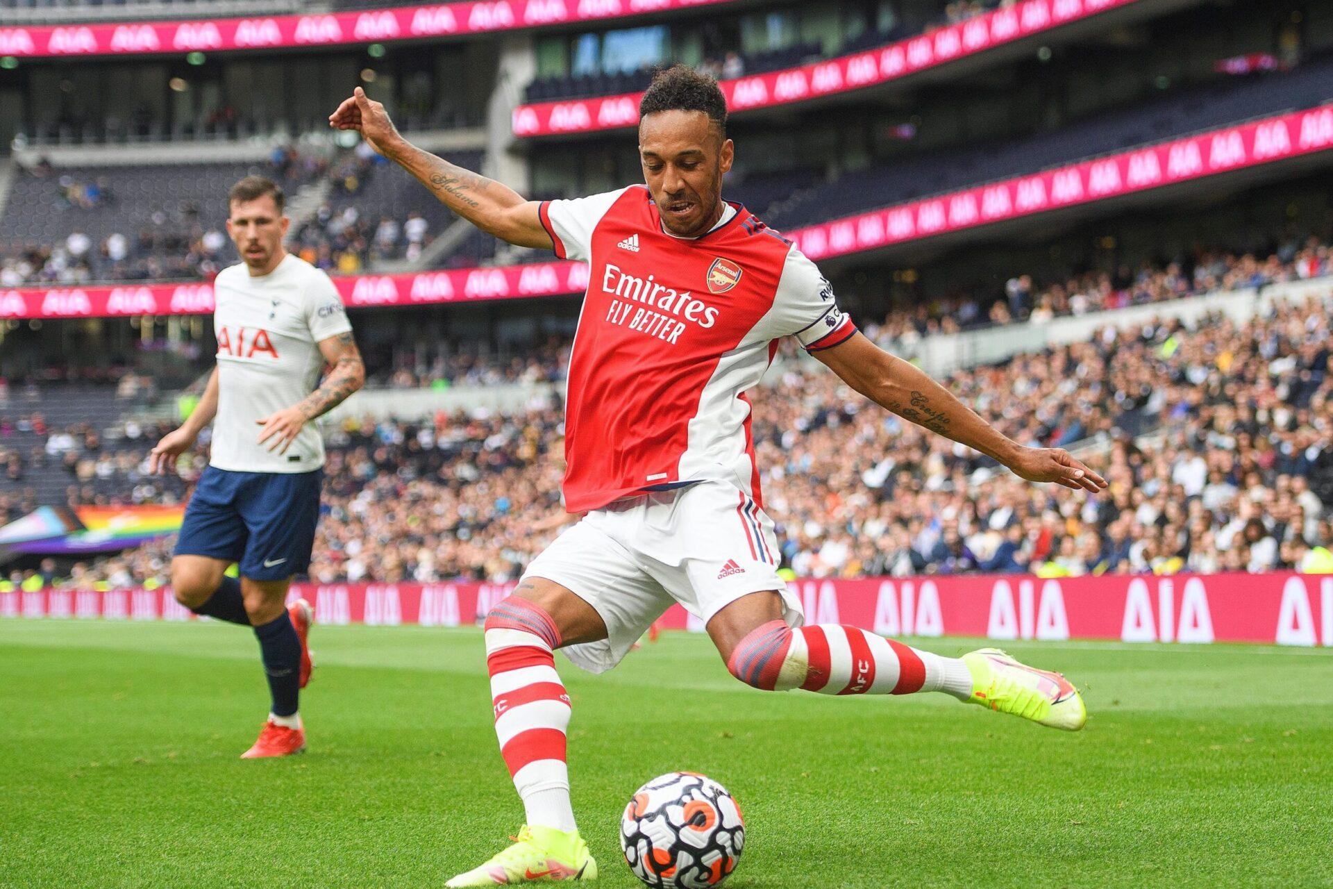 Pierre-Emerick Aubameyang portant le maillot d'Arsenal (Icon Sport)