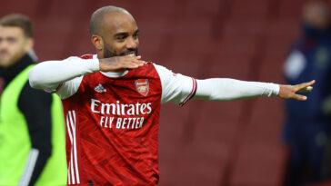 Alexandre Lacazette sous les couleurs d'Arsenal (Icon Sport)