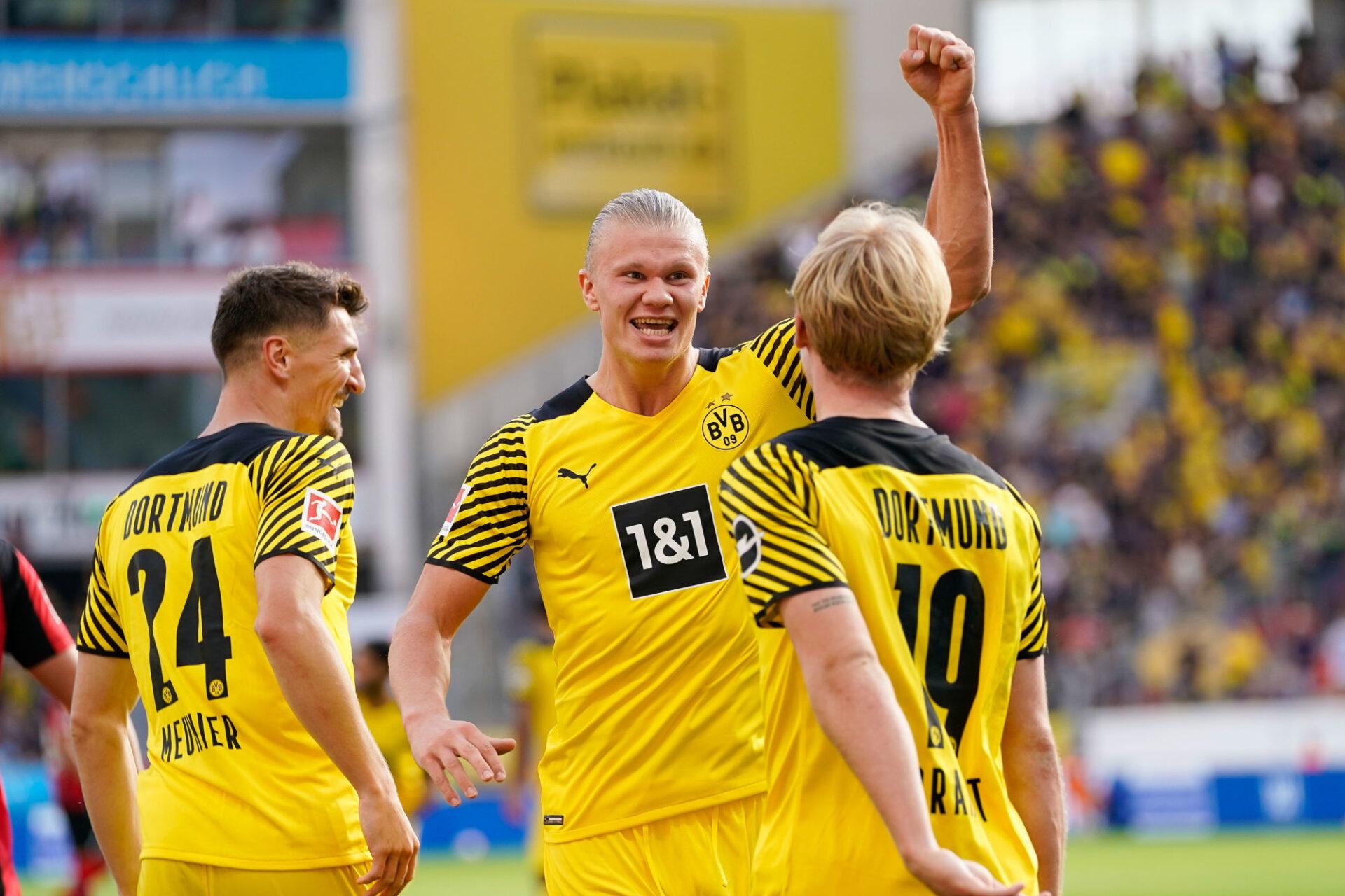 Erling Haaland a déjà marqué 5 buts en 4 journées de Bundesliga. Icon SPort