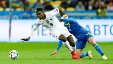 L'équipe de France de Paul Pogba a encore concédé un match nul en Ukraine. Icon Sport