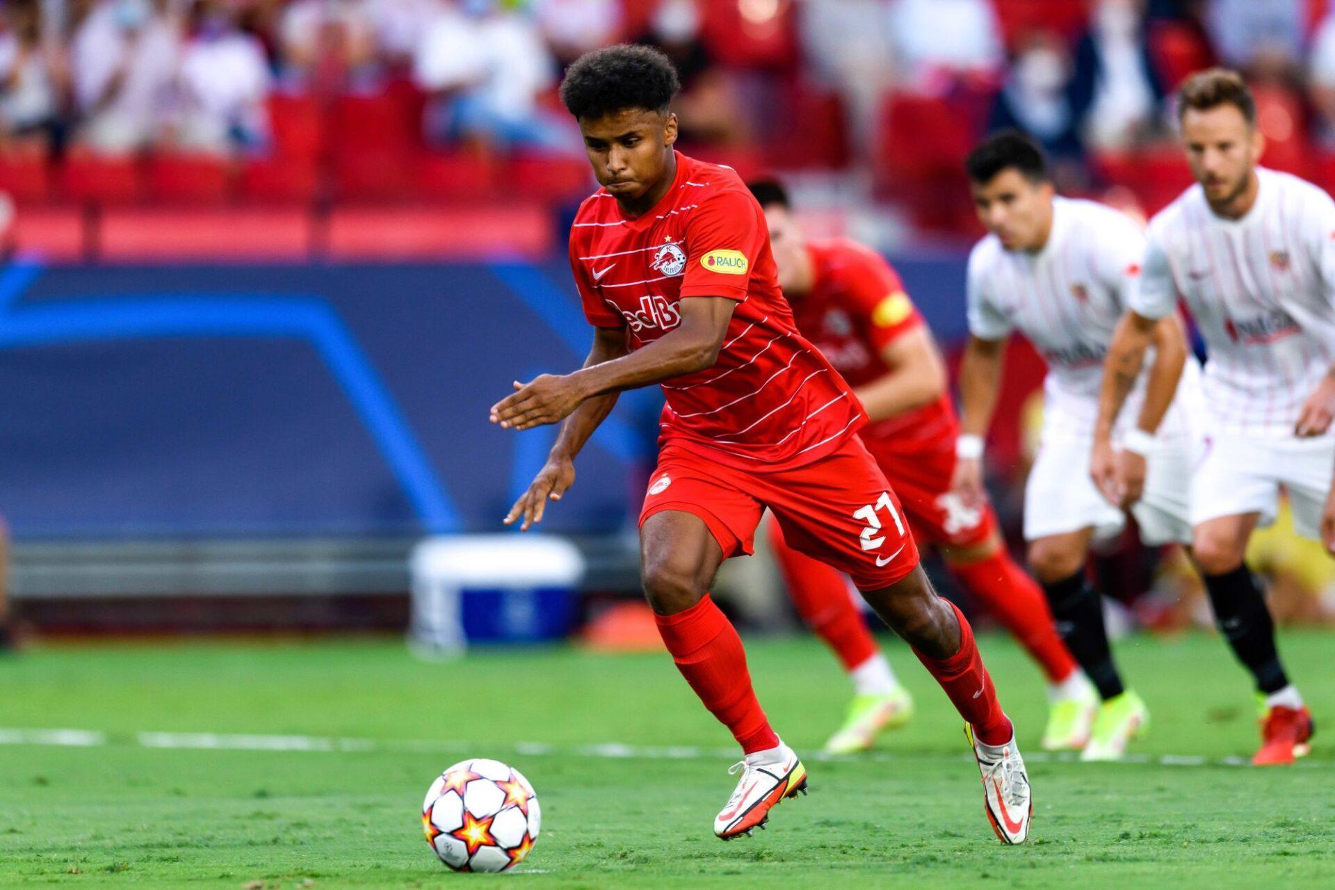 Le RB Salzbourg du prodige Karim Adeyemi est redoutable à domicile en Ligue des champions. Icon Sport