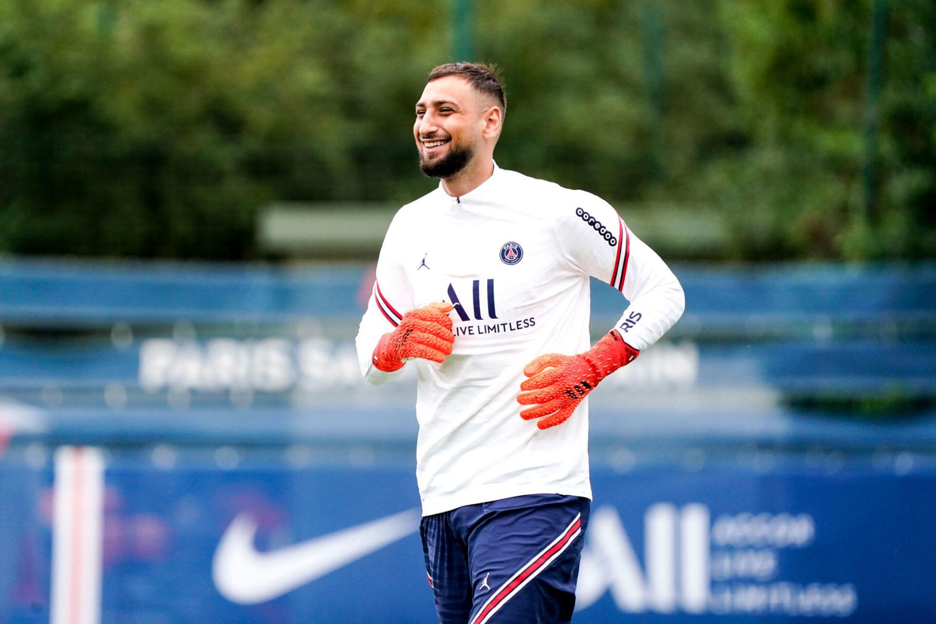 Gianluigi Donnarumma pourrait être titularisé pour la première fois avec le PSG contre Clermont, ce samedi 11 septembre. Icon Sport