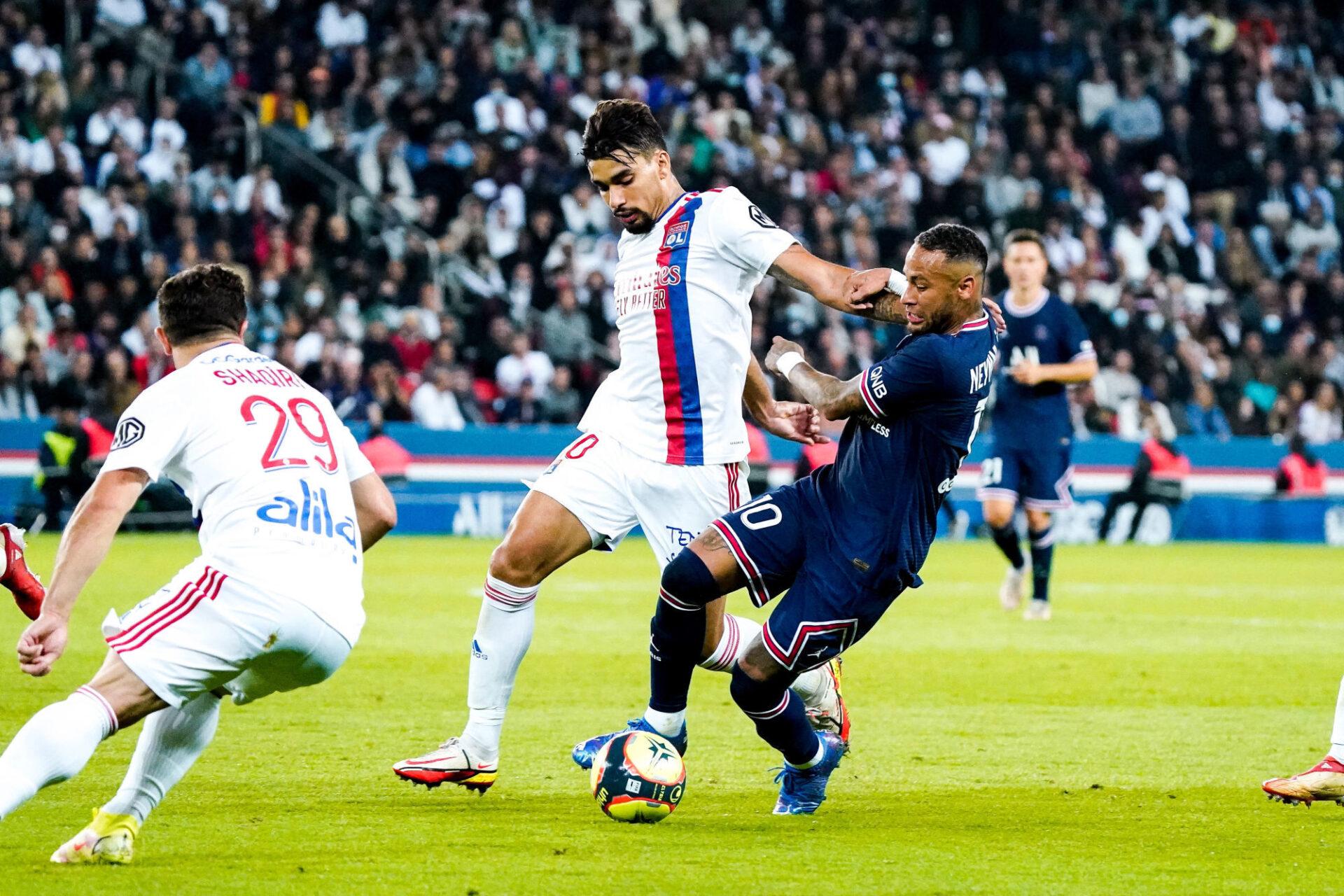 Lucas Paqueta a été monstrueux avec l'OL contre le PSG de Neymar, dimanche 19 septembre. Icon Sport