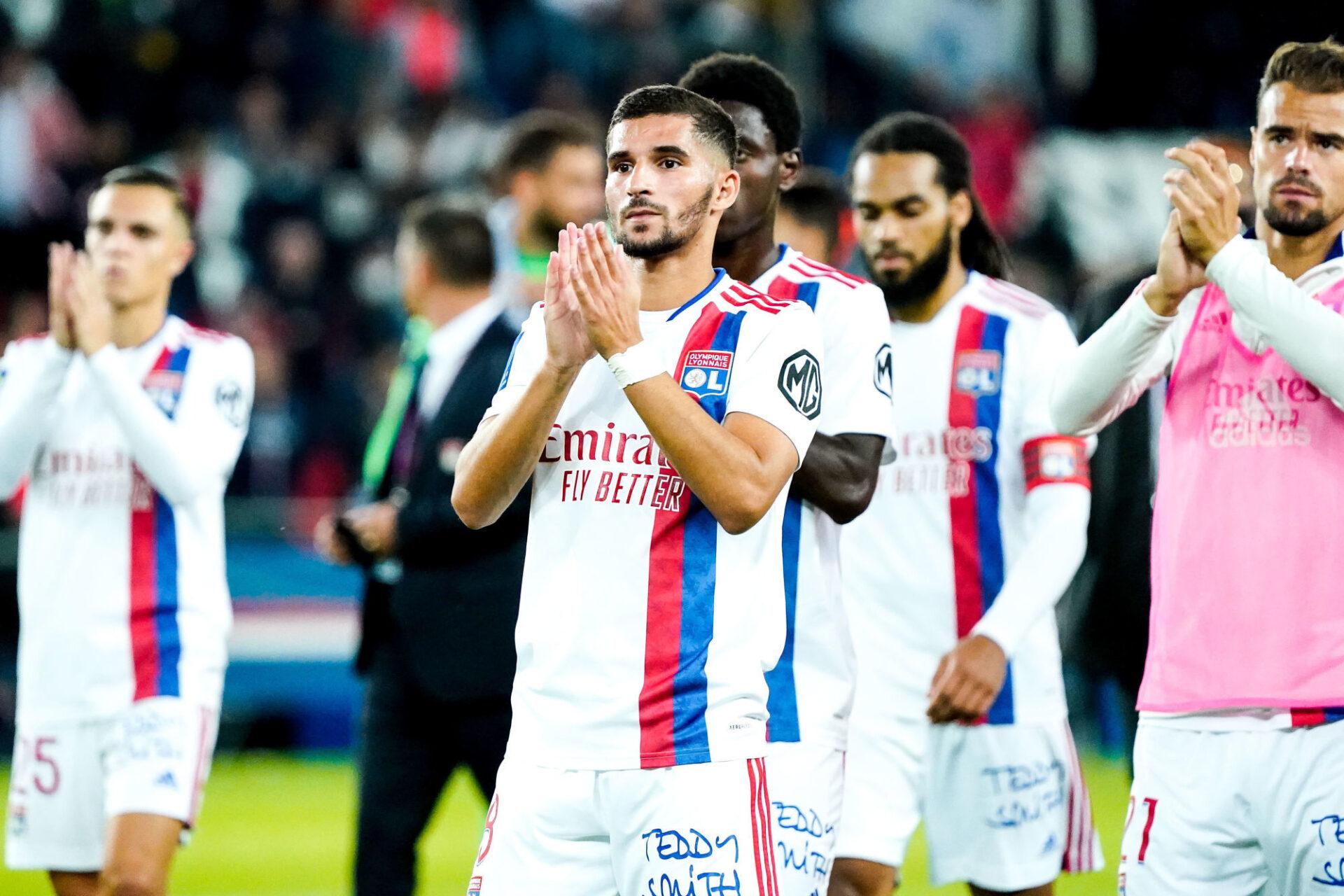 Pas de blagues pour Houssem Aouar et les Lyonnais contre Troyes. Icon Sport