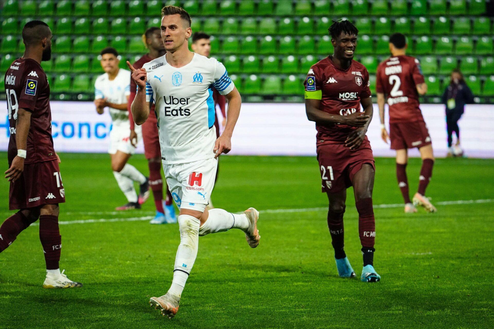 Milik n'a plus joué depuis le 23 mai dernier et le déplacement de l'OM à Metz (1-1) (iconsport)
