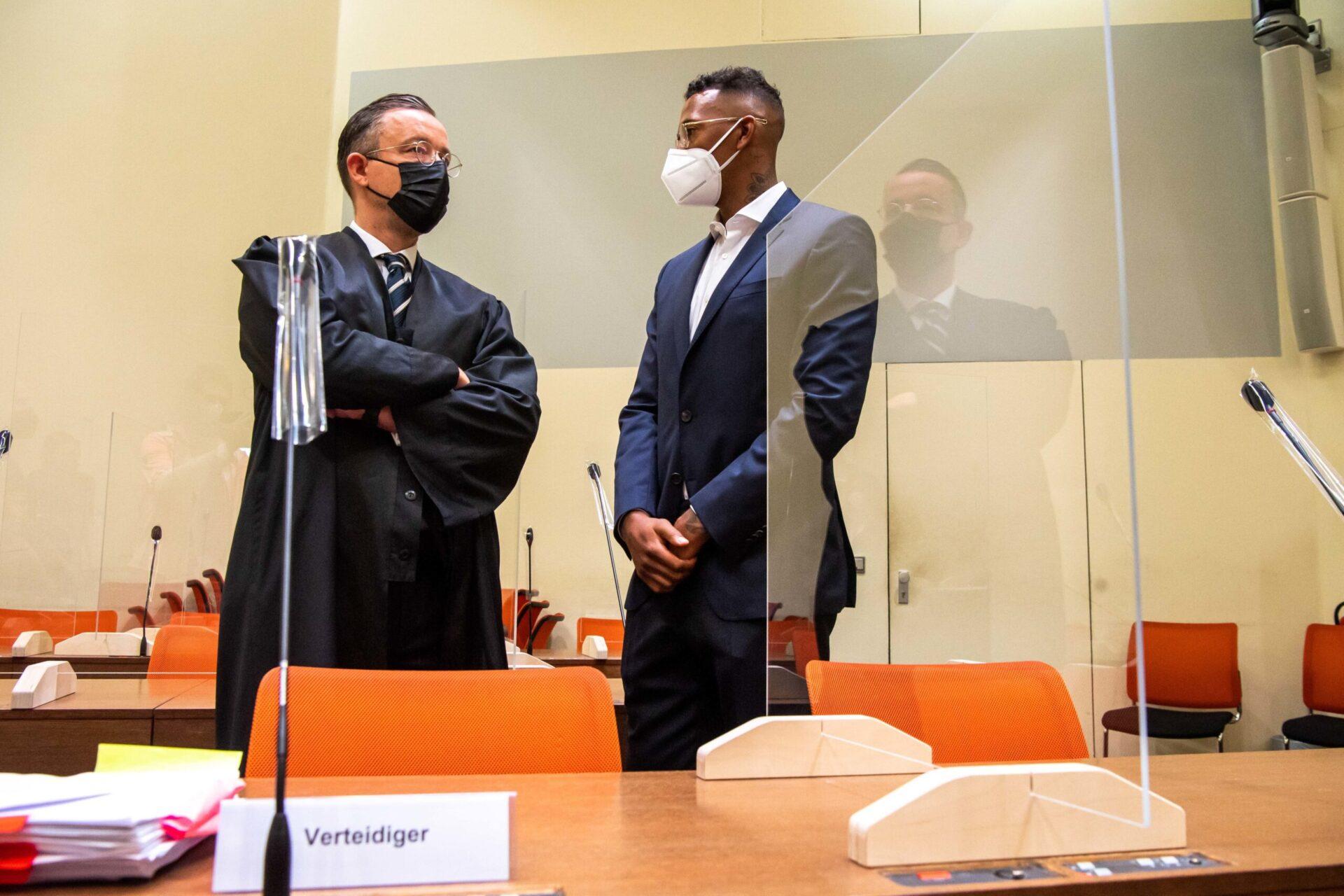 Jérôme Boateng lors de son audience dans un tribunal de Munich (IconSport)