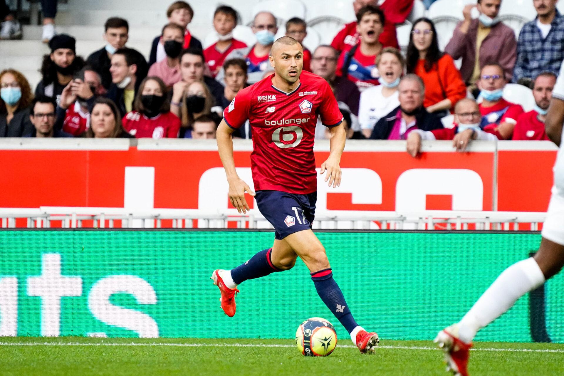 Burak Yilmaz mènera l'attaque du LOSC avec Jonathan David contre Salzbourg. Icon Sport