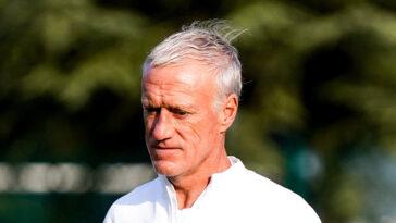 Didier Deschamps, le sélectionneur de l'équipe de France, était en conférence de presse avant le match des Bleus contre la Bosnie, ce mercredi 1er septembre. Icon Sport