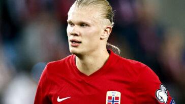 Haaland a été l'auteur d'un joli geste après ses derniers matchs avec la Norvège (iconsport)
