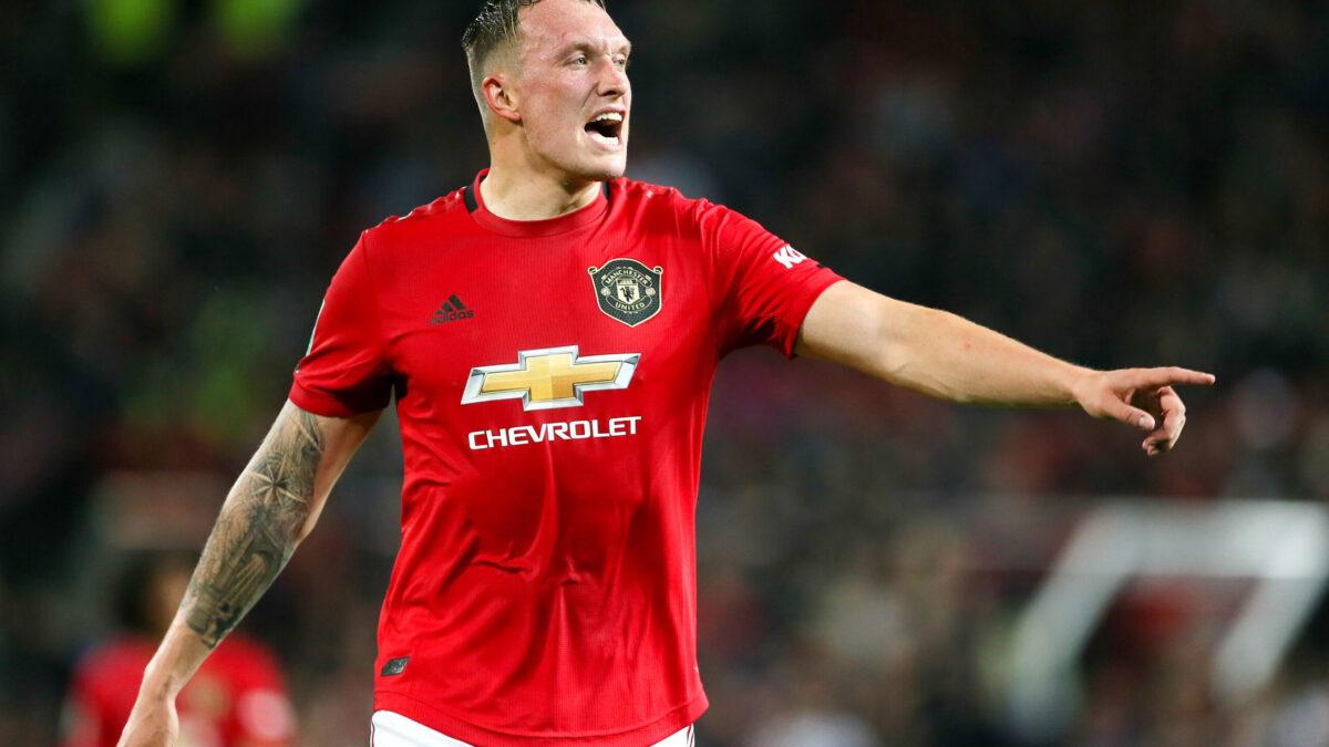 Phil Jones sous le maillot de Manchester United (IconSport)