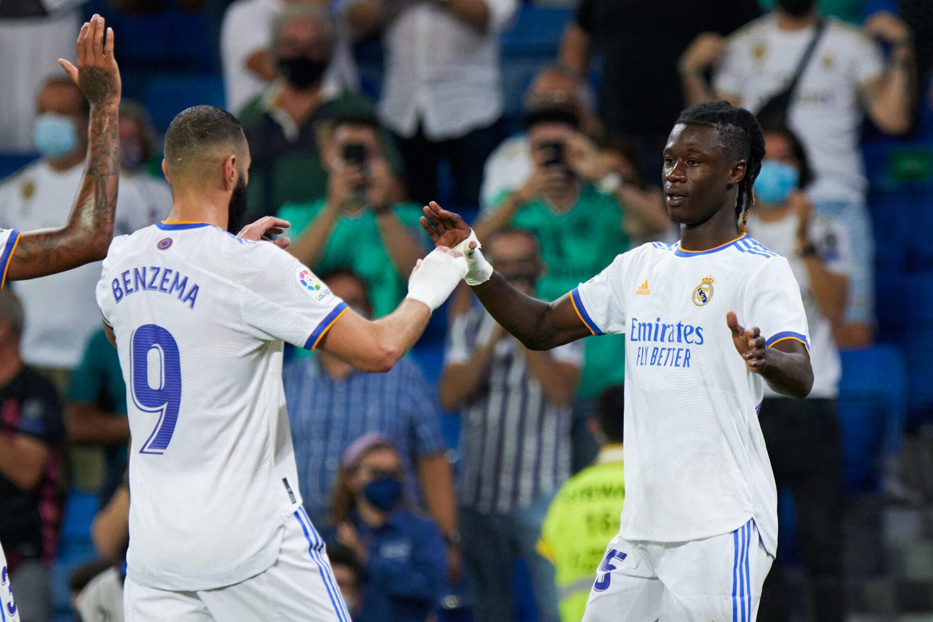 Eduardo Camavinga peut compter sur son compatriote Karim Benzema pour s'intégrer au Real Madrid. Icon Sport