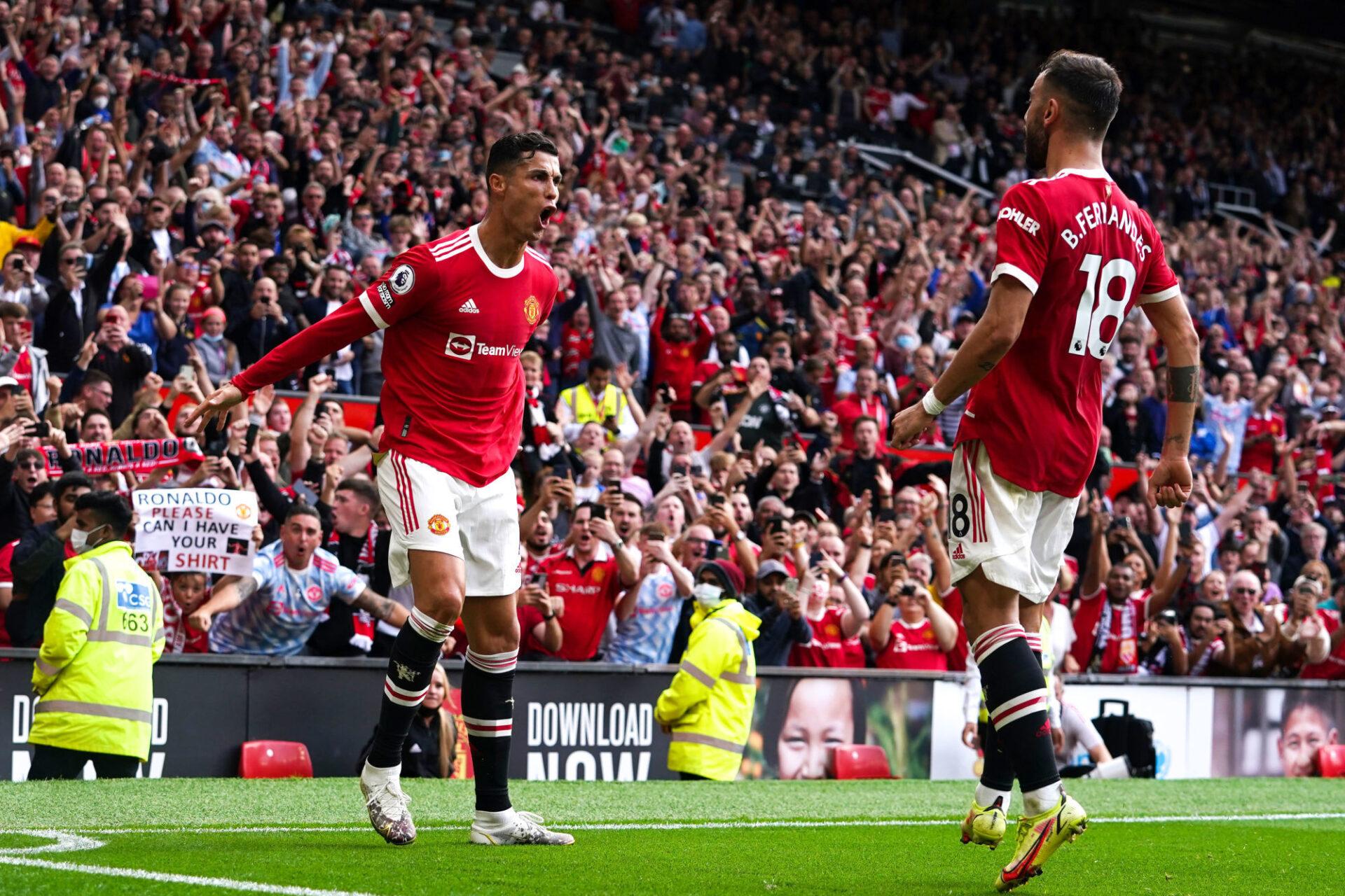 Cristiano Ronaldo célèbre son ouverture du score. Icon Sport