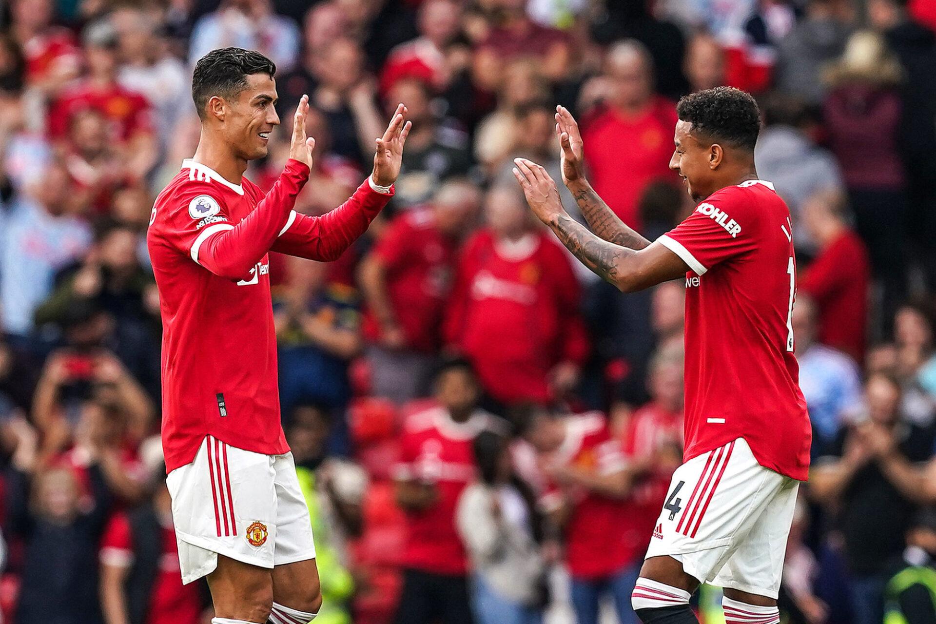 Cristiano Ronaldo s'est déjà parfaitement intégré dans l'effectif de Manchester United. Icon Sport