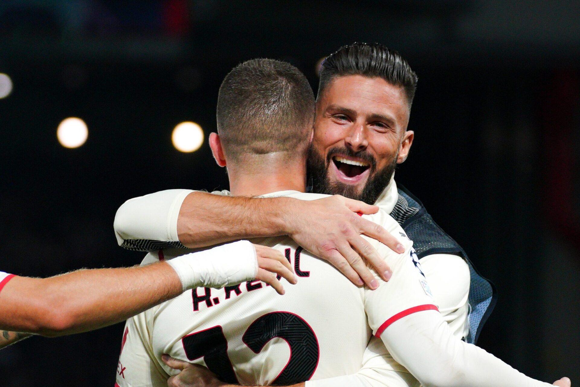 On ne sait pas encore qui de Rebić ou Giroud sera titulaire contre la Juve (iconsport)