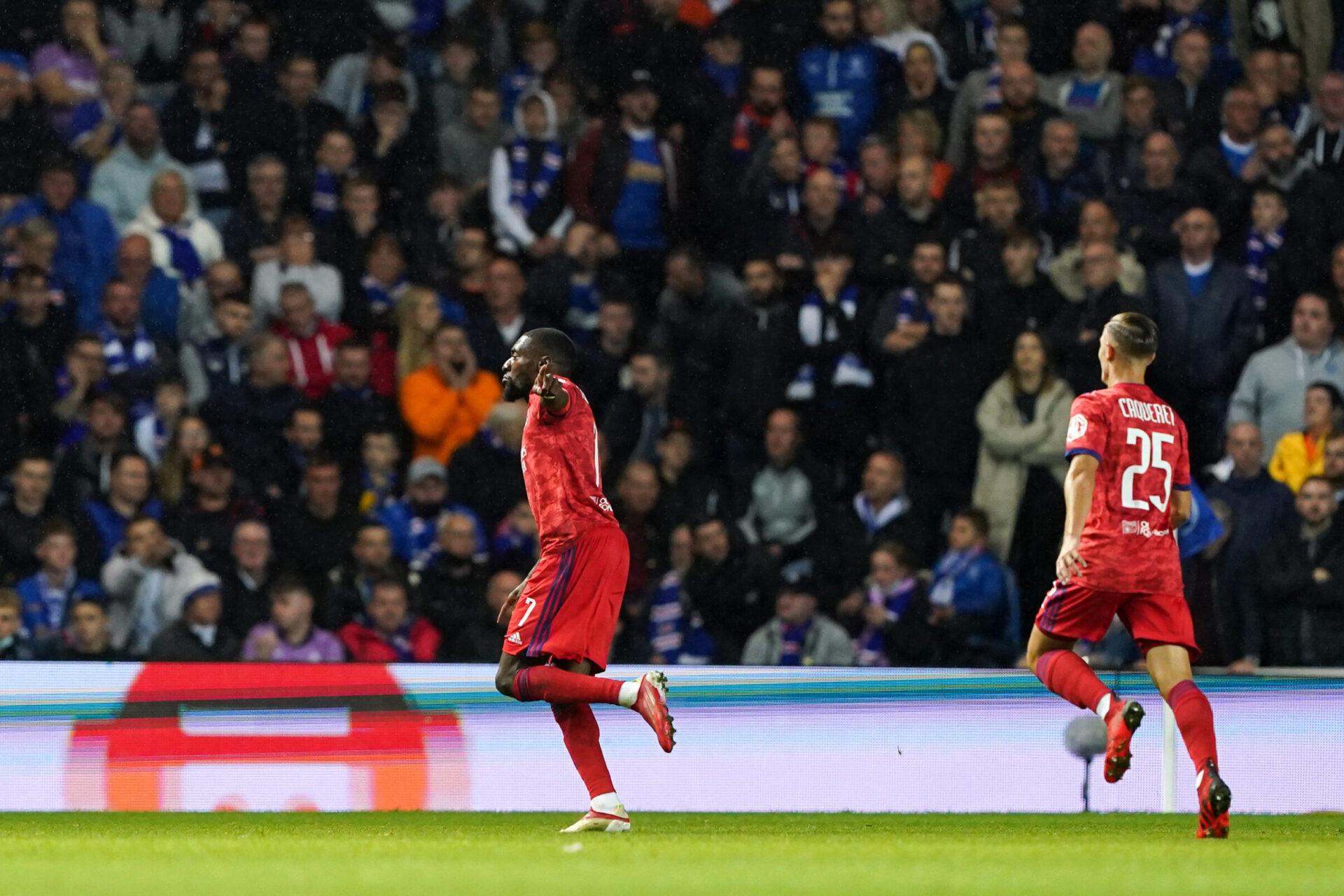 L'OL s'est imposé à Glasgow face aux Rangers grâce notamment à Toko Ekambi. Icon Sport