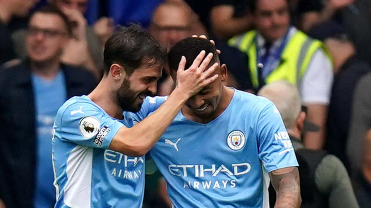 Bernardo Silva et Gabriel Jesus ont totalement fait déjouer Chelsea avec Manchester City ce samedi 25 septembre. Icon Sport