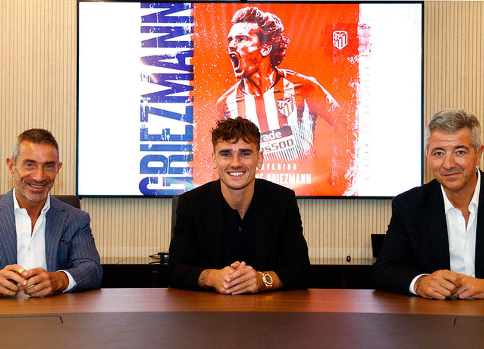 Antoine Griezmann, heureux de faire son retour à l'Atlético de Madrid. Icon Sport